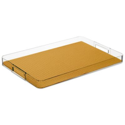 Kraftware™ Fishnet Rectangular Lucite Tray in Gold