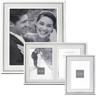 Reed & Barton Luxe Collection 5-Inch x 7-Inch Facet Photo Frame