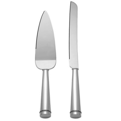 Reed & Barton Luxe Collection Facet 2-Piece Cake Knife and Server Set