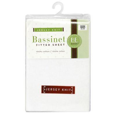 BE Basic™ Bambino Basics Jersey Knit Bassinet Sheet in White