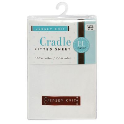 BE Basic™ Bambino Basics Jersey Knit Cradle Sheet in White