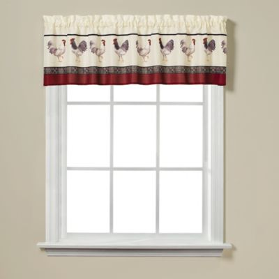 "Rooster Print 13"" Window Valance"