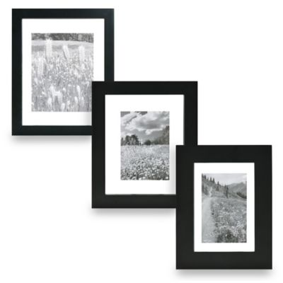 Real Simple® Black Wood Float Frame for 5-Inch x 7-Inch Photo