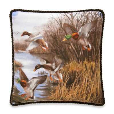 Duck Approach Square Throw Pillow