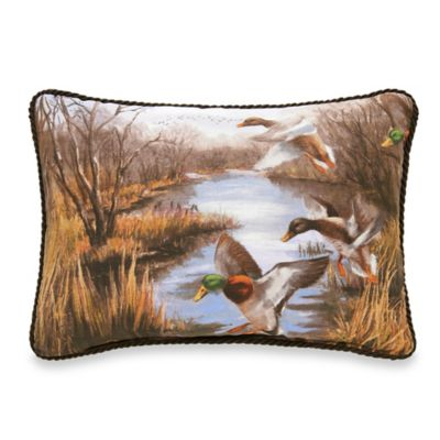 Duck Approach Oblong Throw Pillow