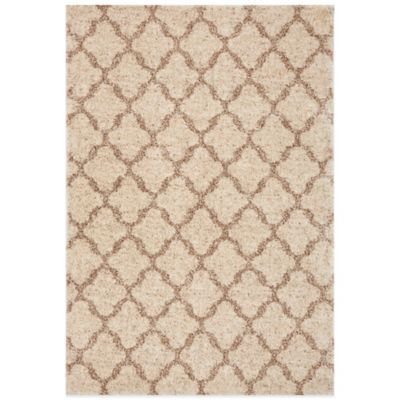 Karastan Prima Shag Temara Lattice 7-Foot 11-Inch x 10-10-Inch Rug in Camel
