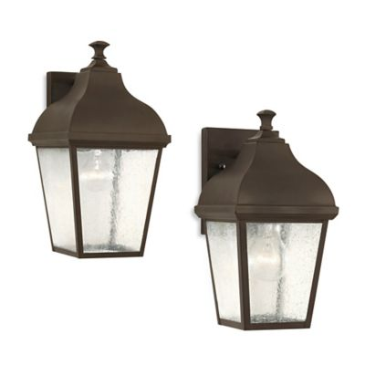 Feiss® Terrace 11.75-Inch Outdoor Wall Lantern in Oil Rubbed Bronze