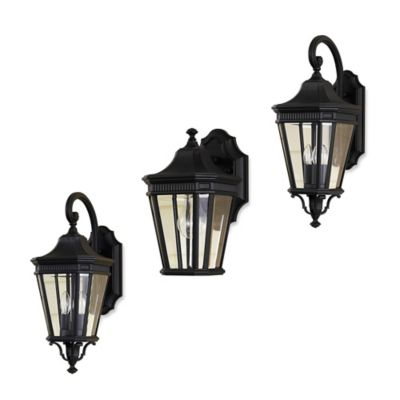 Feiss® Cotswold Lane Outdoor 11.5-Inch Wall Lantern in Black