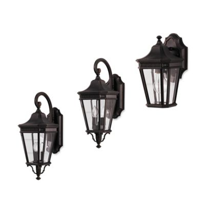 Feiss® Cotswold Lane Outdoor 11.5-Inch Wall Lantern in Grecian Bronze