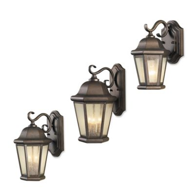 Feiss® Martinsville Outdoor 10.75-Inch Wall Lantern in Corinthian Bronze