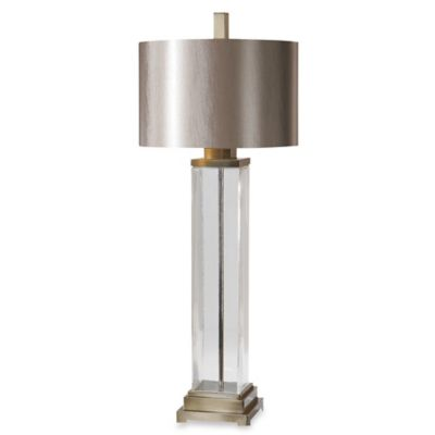 Uttermost Drustan Table Lamp with Silken Champagne Drum Shade