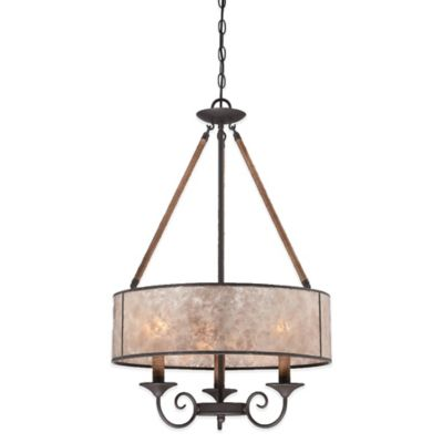 Quoizel Bandelier 3-Light Ceiling Mount Pendant in Imperial Bronze