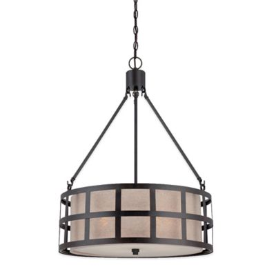 Quoizel Marisol 4-Light Ceiling Mount Pendant in Teco Marrone