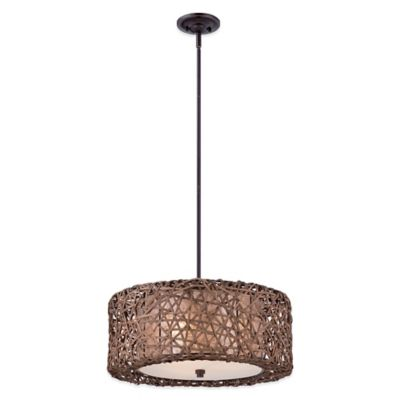 Quoizel Ruckman 3-Light Ceiling Mount Pendant in Palladian Bronze