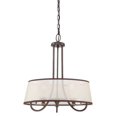 Quoizel Palmer 3-Light Ceiling Mount Pendant in Palladian Bronze