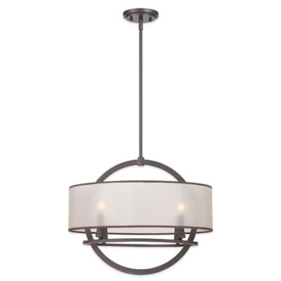 Quoizel Portland 4-Light Ceiling Mount Pendant in Western Bronze