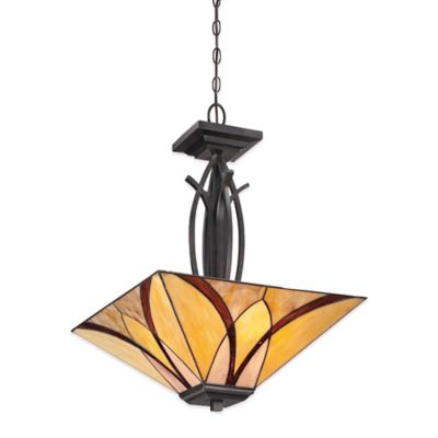 Quoizel Asheville 3-Light Ceiling Mount Pendant in Valiant Bronze