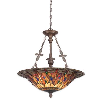 Quoizel Jewel Dragonfly 4-Light Ceiling Mount Pendant in Malaga