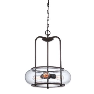 Quoizel Trilogy 3-Light Ceiling Mount Pendant in Old Bronze