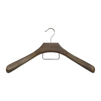 Refined Closet™ Coat Hanger with Accessory Bar in Walnut