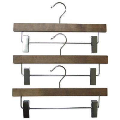 Refined Closet™ 3-Pack Skirt/Pants Hanger in Walnut