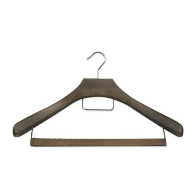 Refined Closet™ Suit Hanger with Non-Slip Wooden Bar in Walnut