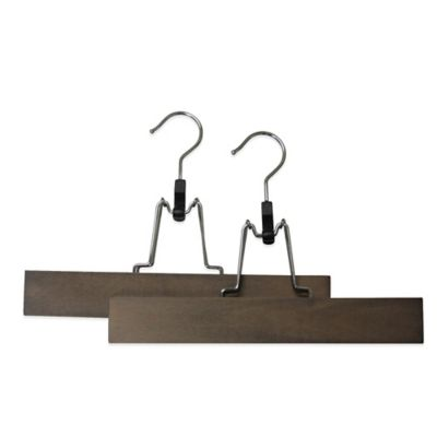 Refined Closet™ 2-Pack Pant Gripper Hanger in Walnut
