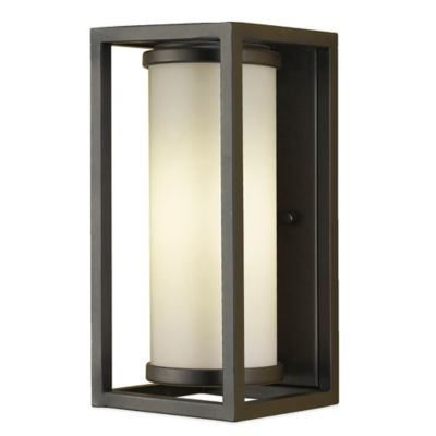Feiss® Industrial Moderne Outdoor Wall Lantern in Oil Rubbed Bronze with CFL Bulb