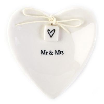 "Two's Company® ""Mr. & Mrs."" Ring Dish"