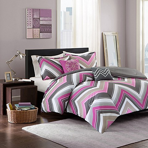 Elise Comforter Set In Pink Grey Bed Bath Amp Beyond