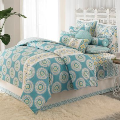 Dena™ Home Azure Reversible King Comforter in Aqua
