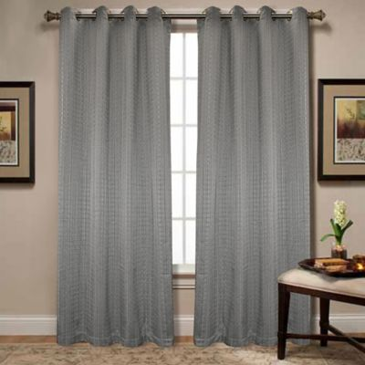 Spoolweave 84-Inch Grommet Window Panel in Silver