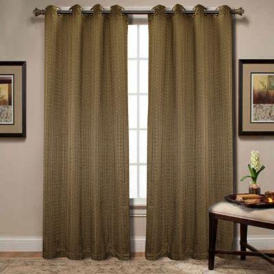 Spoolweave 84-Inch Grommet Window Panel in Gold