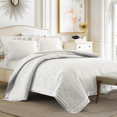 Croscill® Pierce Standard Pillow Sham in White