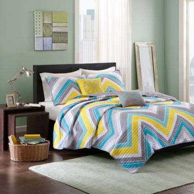 Elise Twin/Twin XL Coverlet Set in Blue