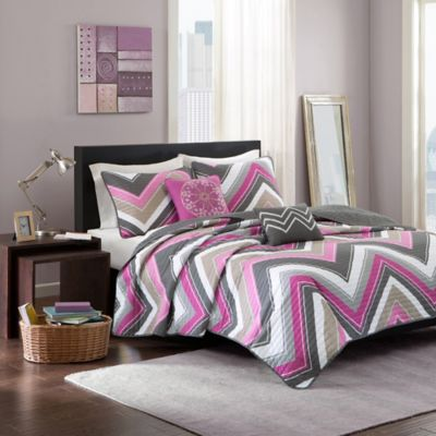 Elise Full/Queen Coverlet Set in Purple