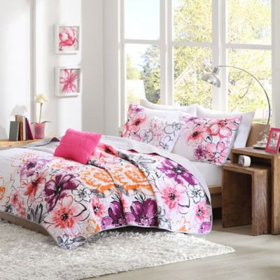 Olivia Twin/Twin XL Coverlet Set in Pink