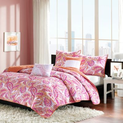Anila Reversible Full/Queen Coverlet Set