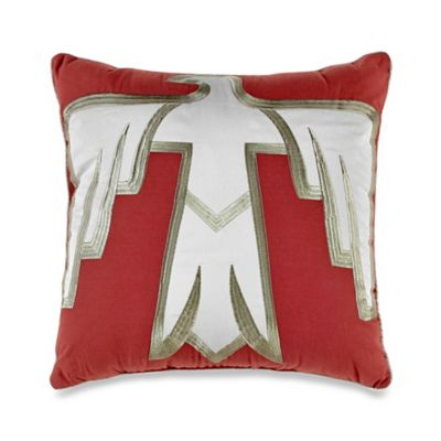 Desert Dream Square Throw Pillow in Burgundy