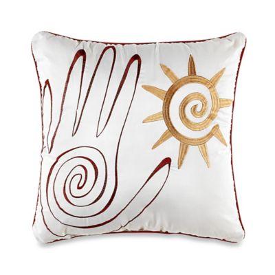 Desert Dream Square Throw Pillow in White