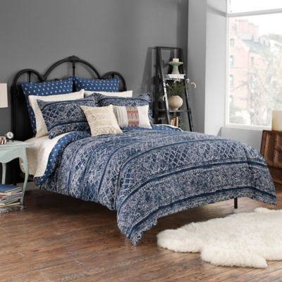 Steve Madden® Lani Reversible King Duvet Cover Set in Indigo