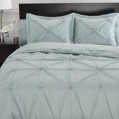 Memento Full/Queen Duvet Cover with Swarovski® Crystal Accents in Aqua