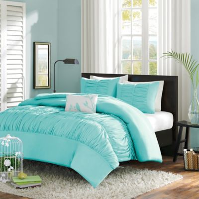 Mizone Mirimar Full/Queen Duvet Cover Set in Blue