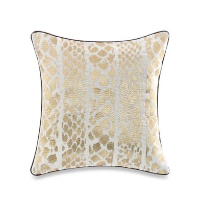 Steve Madden® Lani Square Throw Pillow in Gold