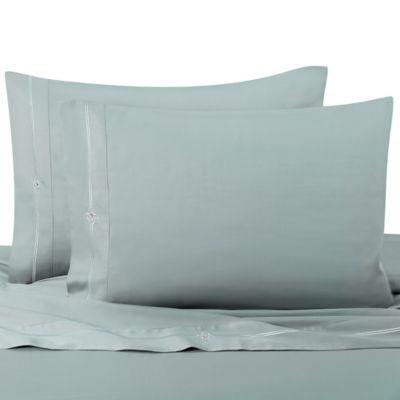 Memento King Sheet Set with Swarovski® Crystal Accents in Aqua