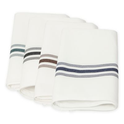 Riegel® 6-Pack Bistro Stripe Napkins in Green