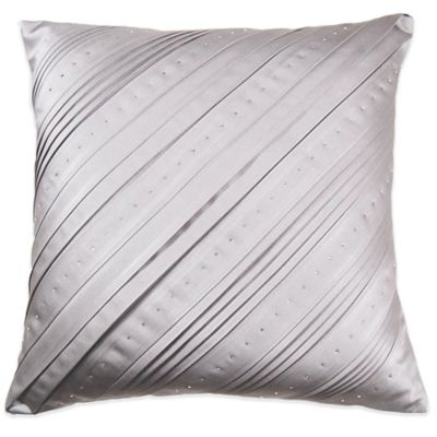 Majestic Dazzling Celtic Square Throw Pillow with Swarovski® Crystal Accents in Grey