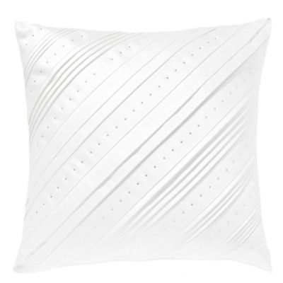 Swarovski® Majestic Dazzling Celtic Square Throw Pillow in White