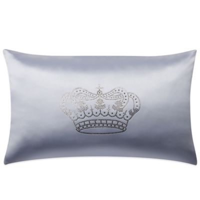 Majestic Crowns Oblong Throw Pillow with Swarovski® Accents in Grey