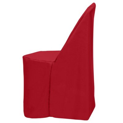Basic Polyester Cover for Plastic Folding Chair in Holiday Red